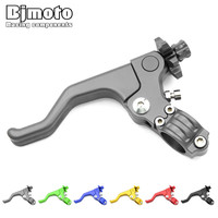 Drop Shipping Universal 6color Left 22mm 7 8 Inch Handlebar Clutch Lever Dirt Off Road Bike