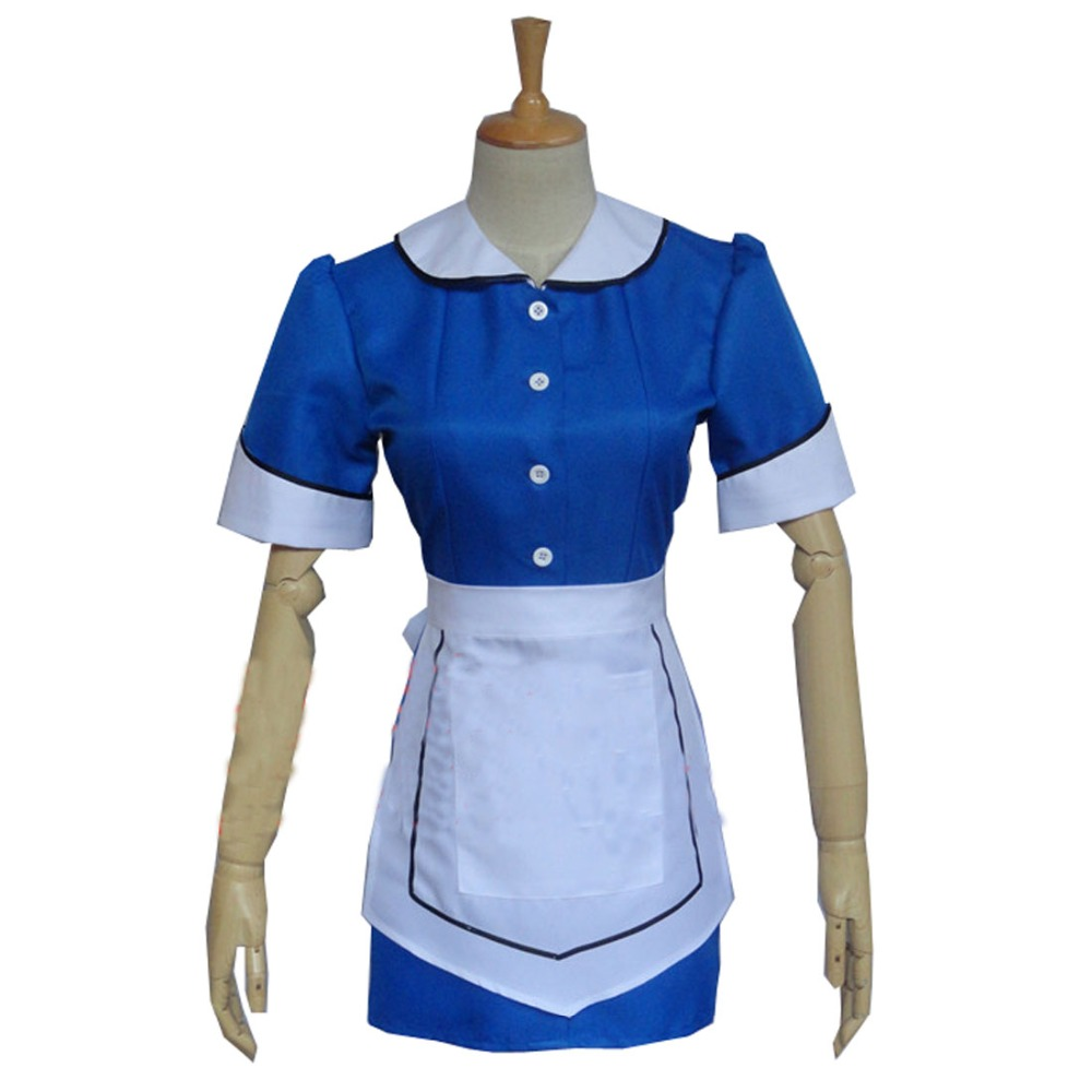 2017 Doctor Who 8 The Snowmen Clara Oswald Cosplay Costume Waitress Dress