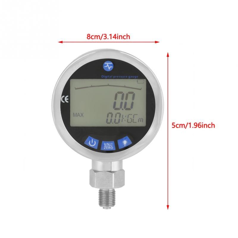 Hydraulic Pressure Gauge Stainless Steel Pressure Tester Meter 0-60MPa With G1/4 Connector Pressure Measuring Instrument Digital