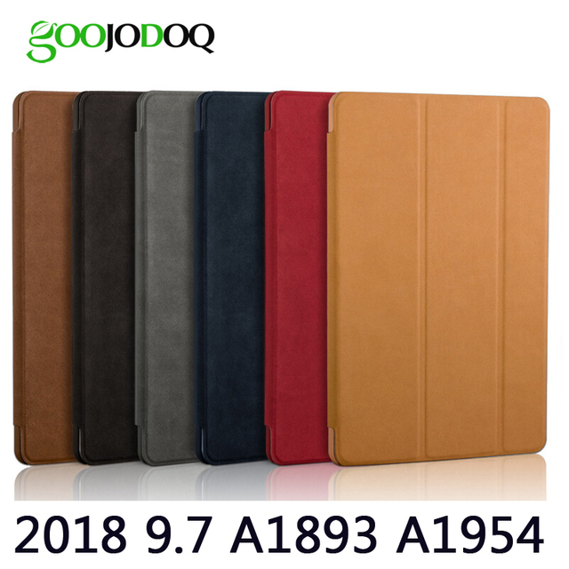 On Amazon Yes Really Case For Ipad 9 7 2018 Goojodoq Matte Deer Pu Leather Smart Cover Protective Tablet Case For Apple Ipad 2018 Auto Sleep Wake Up Best Price