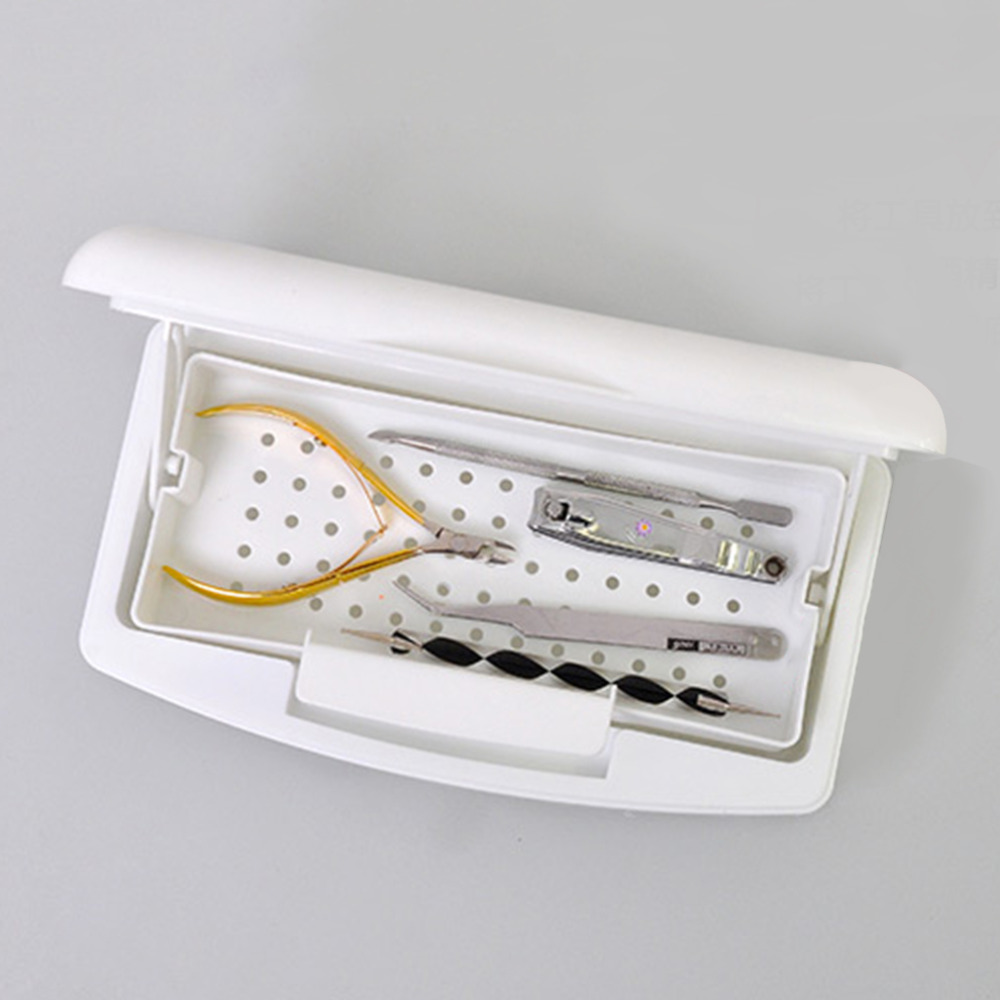 Pro Nail Sterilizer Tray Disinfection Pedicure Manicure Sterilizing Box Nail Art Sterilizer Tray Box Sterilizing SalonTools Hot