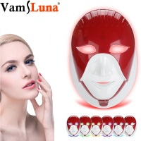 LED Photon Therapy Face Mask With 7 Color Light Treatment Face Skin Care Phototherapy Multifunction Beauty Mask Instrument