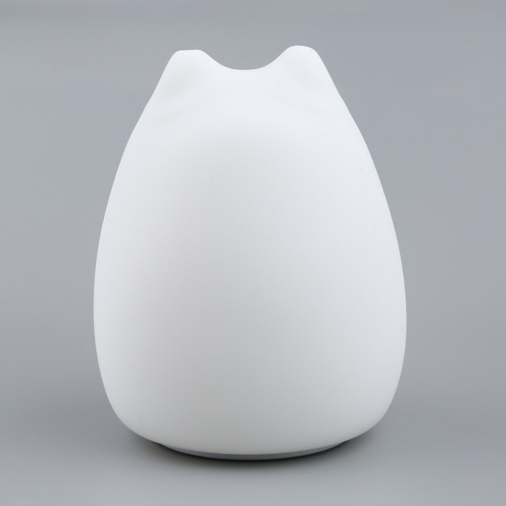 New Rechargeable Colorful Silicone Animal Light with Lovely Cat Shape Touch Sensor Light Bedroom Light with 2 Modes