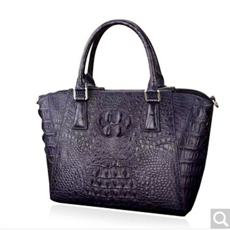 luolaini Crocodile leather women handbag leather female single shoulder bag European and American trend handbag 2018 new 2015 european and american brand women handbag shoulder bag crocodile pattern handbag handbag messenger bag rse wallet 6 sets