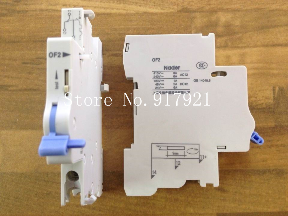 [ZOB] The letter Nader OF2 circuit breaker auxiliary contact used to ensure genuine in NDB2-63 circuit breaker auxiliary --10PC