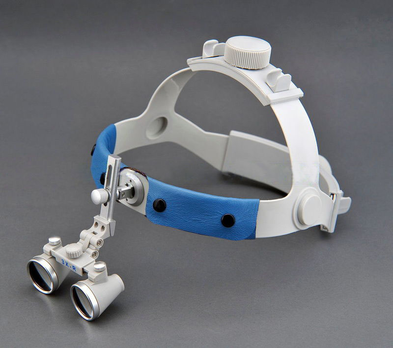 Wide Field Wearing Style 3.5X Dental Magnifying Glass LED Light Illuminant Eye Glasses Orthopedic Surgery Oral Magnifier