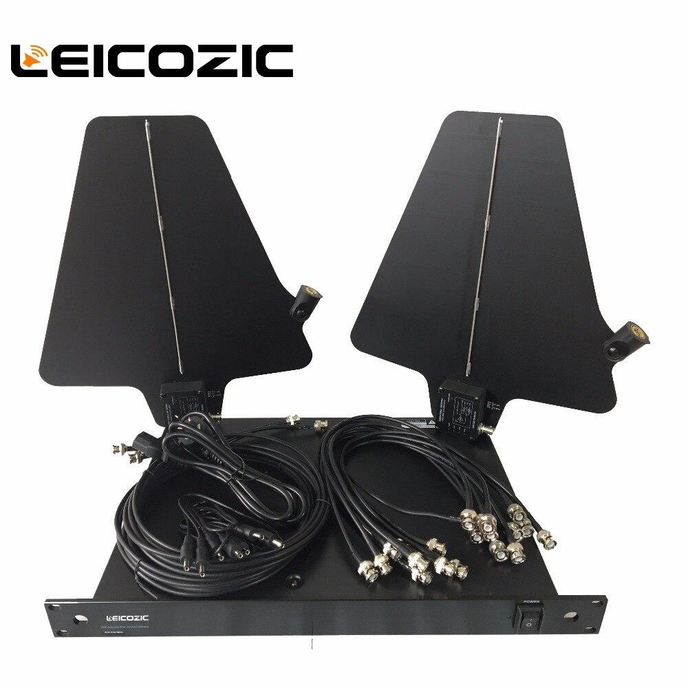 Leicozic Nouveau UA845/UA874 Active Directionnelle Antenne & Splitter Amp système kit Sans Fil Antenne Distribution Système 470-950 Mhz