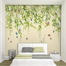 Professional custom 3d wallpaper murals Modern Chinese style birds and flowers series - high-grade waterproof materials
