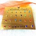 12 pairs/card красочные Классический Корона Shaped Серьги Высший Сорт Brincos Серьги для Женщин Ювелирные Изделия Анель