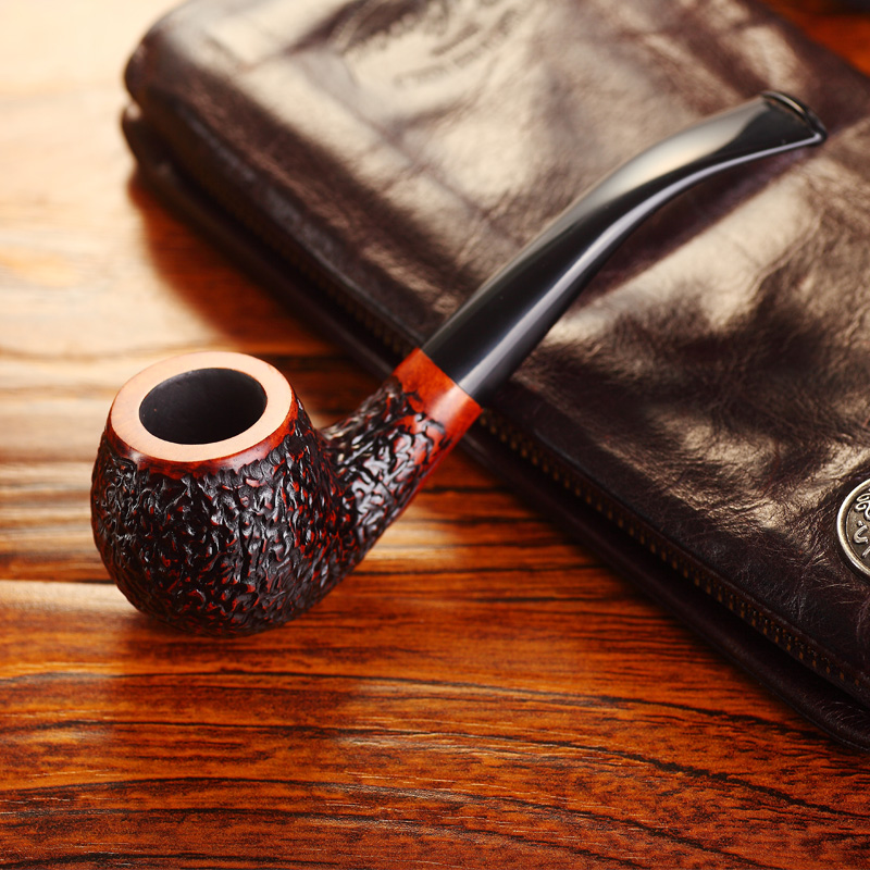 Tobacco pipe wooden Handmade briar pipes Cigarette holder ...