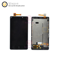 100 Original 4 3 800x480 For Nokia Lumia 820 LCD Touch Screen With Frame For Nokia