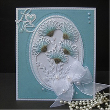 YaMinSanNiO Frilly Flower Frame Metal Cutting Dies Scrapbooking Card Making Album Embossing Crafts Die Cut