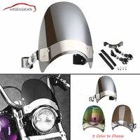 WISENGEAR Windshield Variable Spoiler Windscreen Wind Deflector For Harley Dyna XL 883 1200 Yamaha Honda Suzuki