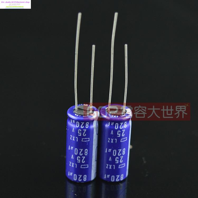 20pcs Japan NCC Black King Kong 25v820uf 16V Electrolytic Capacitor 820uf 25V LXZ top series 10*25 Free shipping