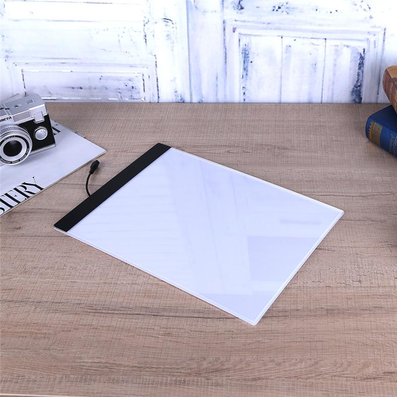 USB LED A4 Papier LED Kopie Pad Comic Zeichnung Tracing Schablone Board Touch Typ Künstler Tabelle Platte Kinder Schreiben Malerei tablet