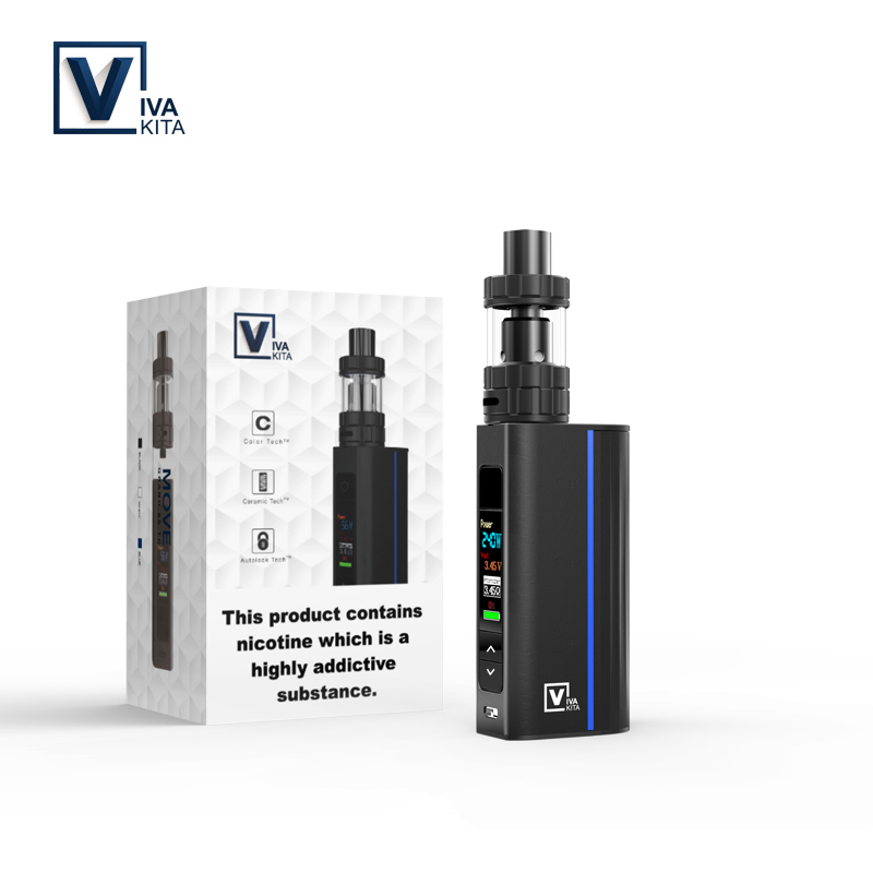 Vaptio portable vaporizer  variable wattage box mod 75w P-II temp control mod 1850mah electric battery vapor cigarette