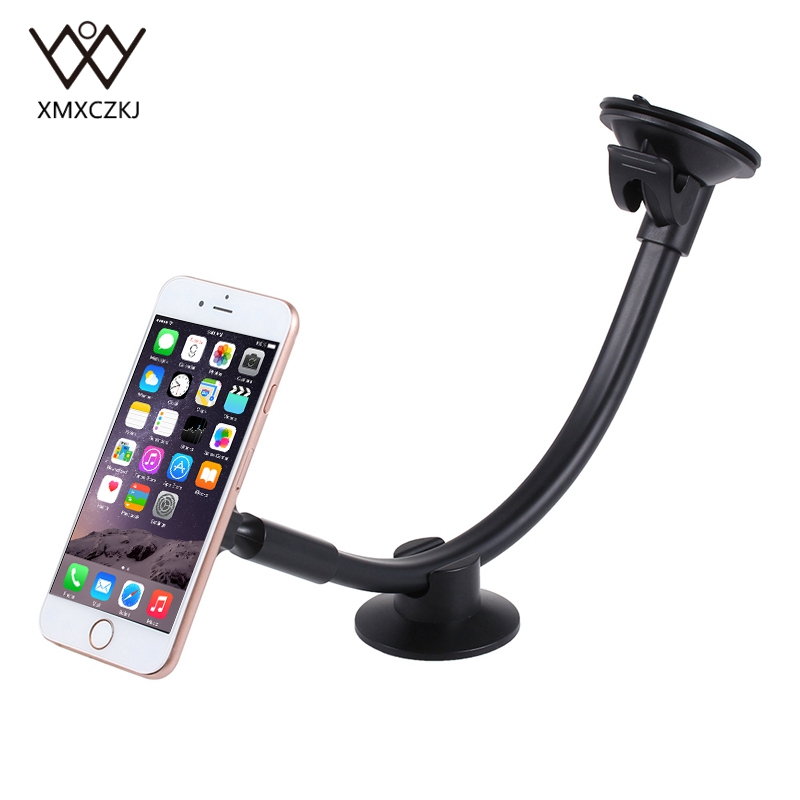 Universal Magnetic Car Phone Holder Long Arm Windshield Dashboard Magnet Car Holder Stand Mount Dock For Iphone Mobile Phone