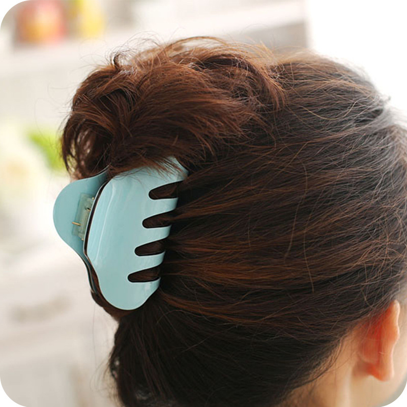Acrylic Large Size Women Hair Clip Claws Crab Trendy Hairpins Solid Color For female Girl   Headwear   Accessories Make UP Wash Tool