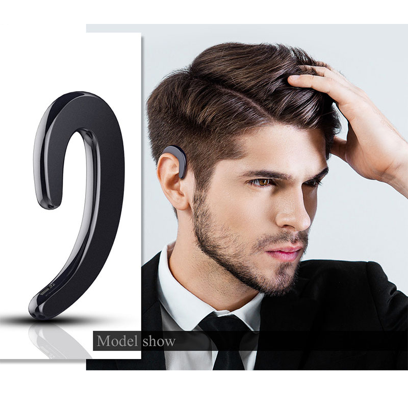 Ear-hook Headset Wireless Bluetooth Earphones unilateral Wireless Headphones HD call No earplugs Phone Headset with Microphone wireless service call bell system popular in restaurant ce passed 433 92mhz full equipment watch pager 1 watch 7 call button
