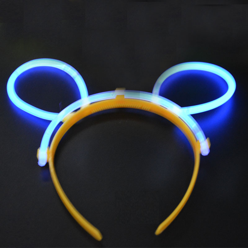 Party Luminous Glow Light Sticks Fluorescence Stick with 40pcs Plastic Bunny headband Party Concerts Supplies Favors