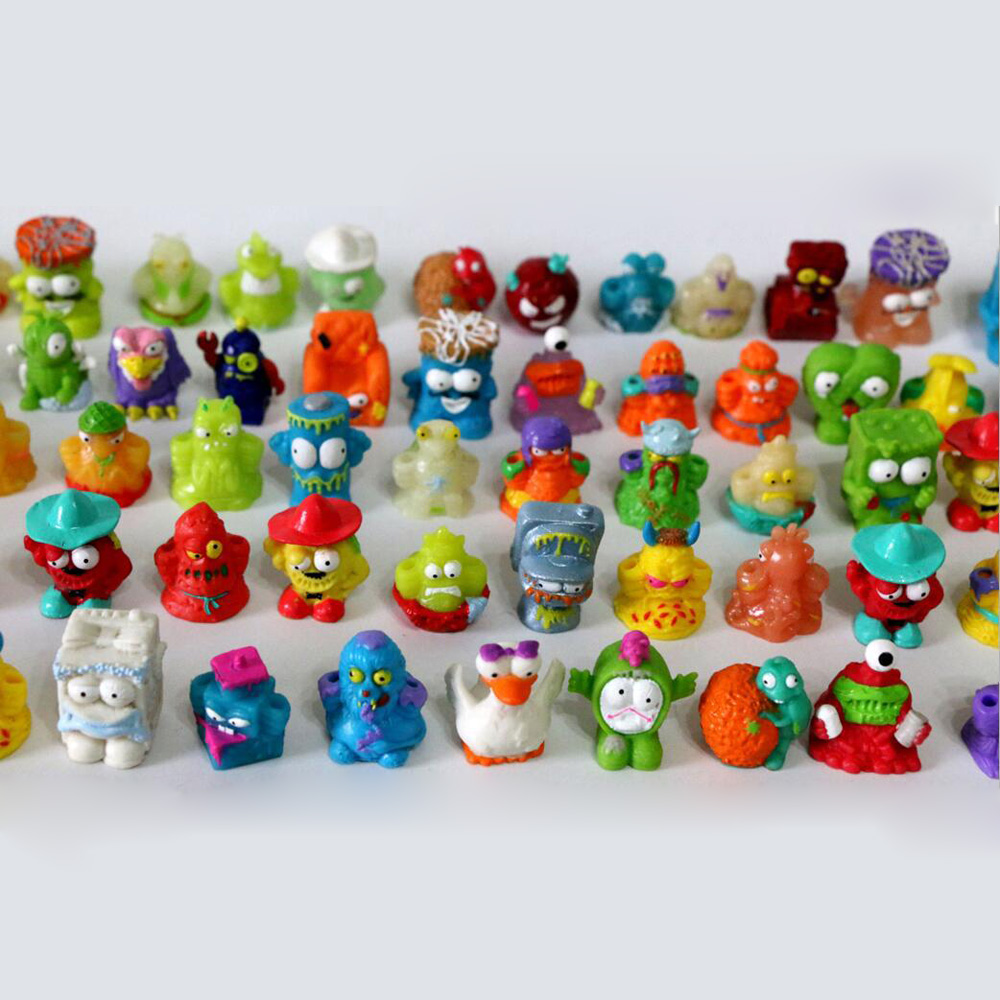 Random The Grossery Gang Kids Toys Popular Cartoon Anime Action Figures Toys HOT Garbage Moose Toy 50pcs