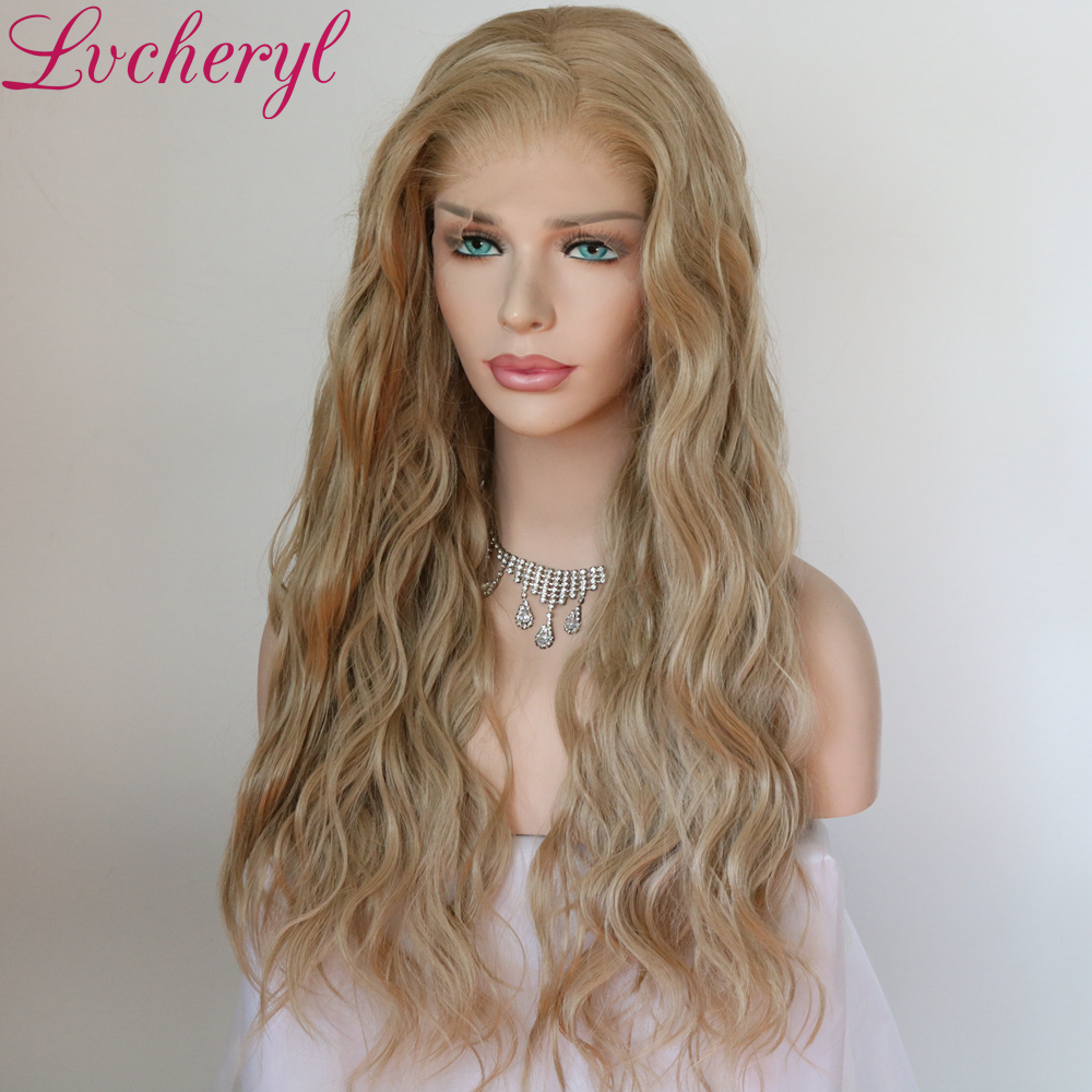 Image 3 - Lvcheryl Synthetic Lace Front Wig Natural Wave Red Color 13x6 Synthetic Lace Front Wig Futura Hair Lace Wigs For Women-in Synthetic Lace Wigs from Hair Extensions & Wigs