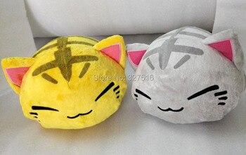 28CM Cartoon Nemuneko Figure Stripe Sleeping Cat Soft Plush Doll Toys Kawaii Maneki Neko Pillow Plush Toys Free Shipping