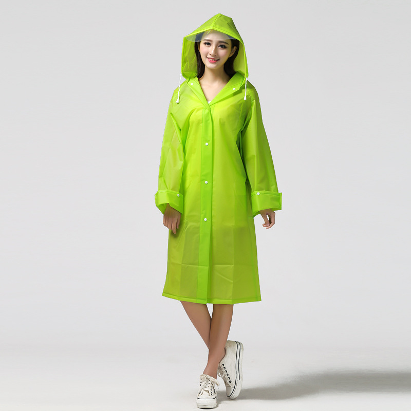 Image 5 - Fashion EVA transparent waterproof women raincoat poncho windproof rain coat with school bag location Climbing Tour raincoat-in Raincoats from Home & Garden
