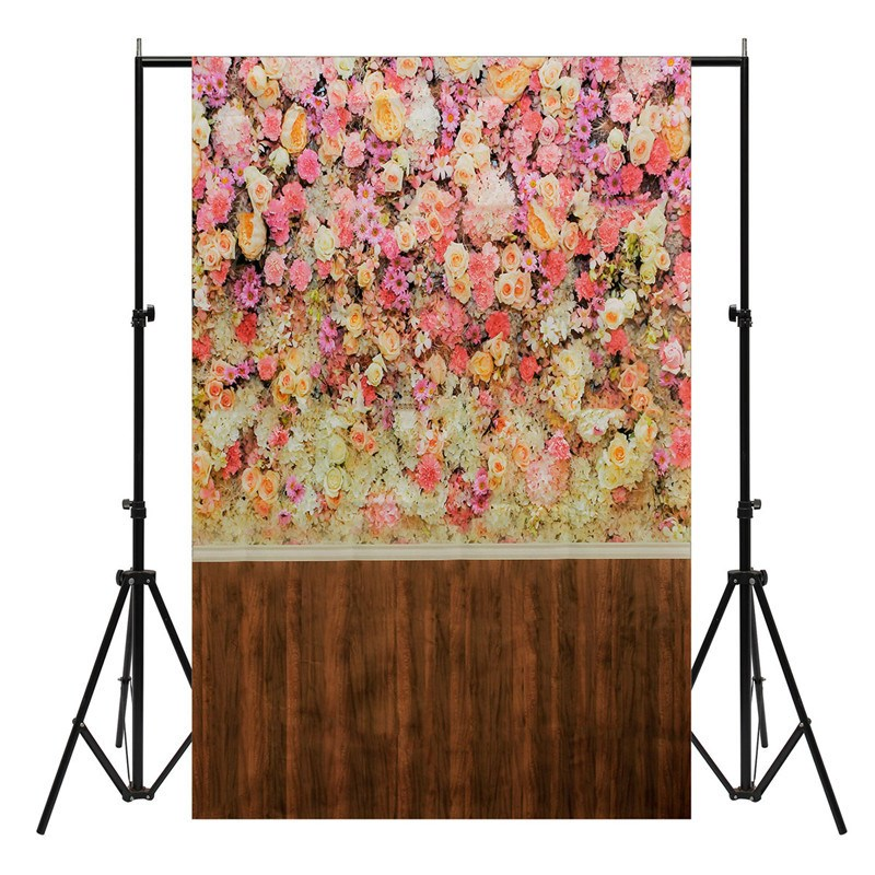 3x5ft Vinyl Photography Background Flower Wall Wood Floor Photographic Backdrop for Studio Photo Props waterproof Cloth 10ft 20ft romantic wedding backdrop f 894 fabric background idea wood floor digital photography backdrop for picture taking
