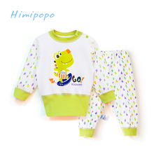 HIMIPOPO Kids Belly Protection Clothing Suits Baby Boy Girls Sets Long Sleeve Spring Autumn Outfits Cotton Baby Underwear Sets