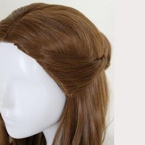 Image 5 - Perruque synthétique style princesse et la bête, coiffure synthétique longue ondulée brune, perruque princesse et la bête, déguisement pour jeu de rôle à la fête dhalloween