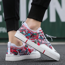 2018 new fashion spring autumn men canvas shoes casual flats breathable lightweight sneakers man lace up students shoes qa 43 New Fashion Men Casual Shoes Ultra Lightweight Lace Up Sneakers Breathable Colorful Men Flats Shoes MC999