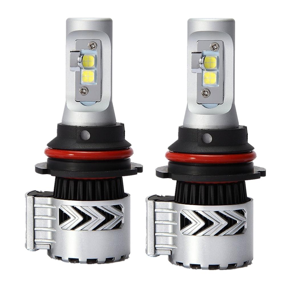 1Pair Car LED Headlight 9004 9007 Hi Lo Beam 72W Fog Driving Lamp
