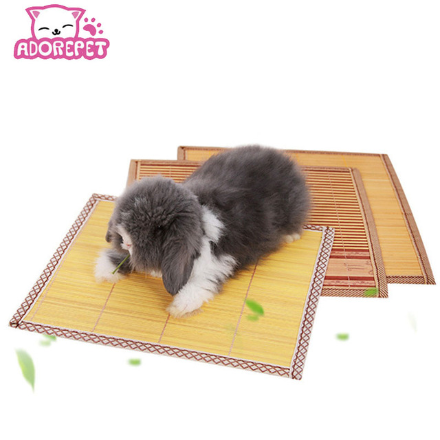 Guinea Pig Hamster Cooling Mat Pad Accessories Bamboo Summer Small Animal Rabbit Chinchilla Hedgehog Squirrel Cool Bed House
