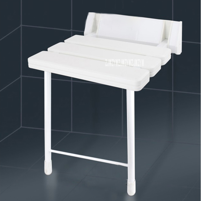 New Bath Shower Wall Chair Bathroom Stool High-quality Household Wall Mounted Shower Seat Bathroom Folding Chair With Stool Legs 1 8x1 8m peva bathroom shower curtains moldproof waterproof 3d thickened household bathroom shower curtain plastic bath screen