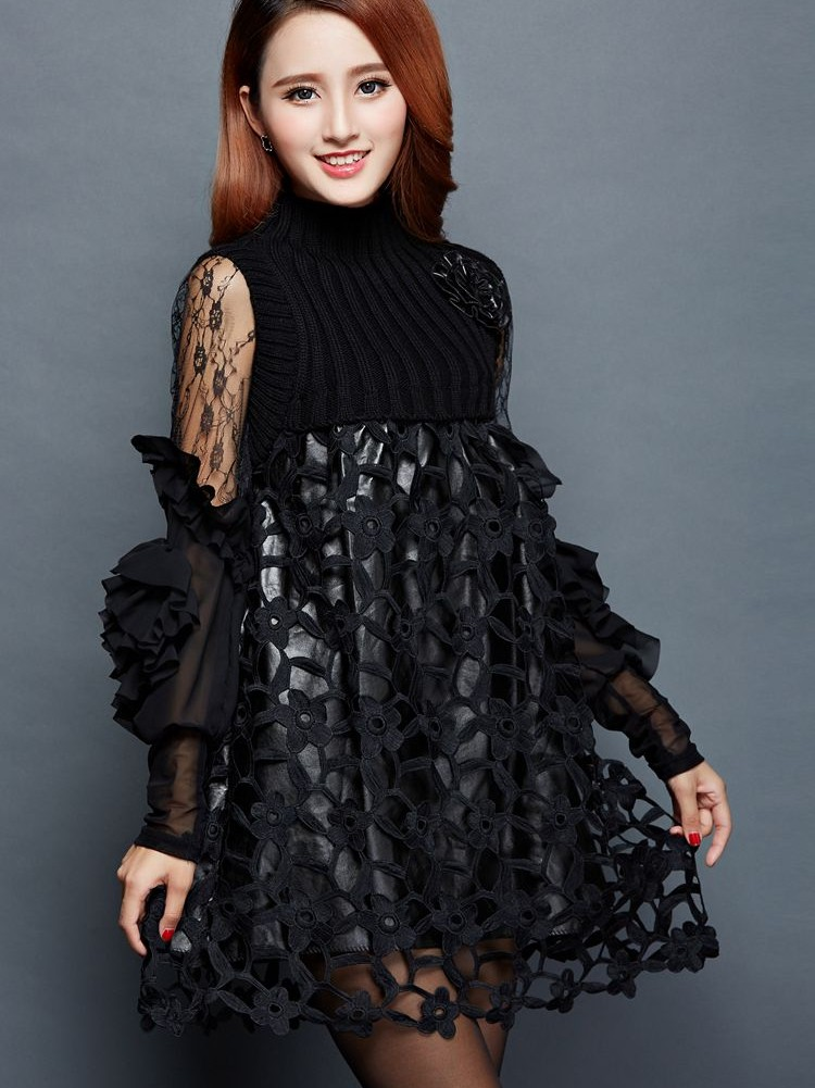da686a1e11a Aliexpress.com   Buy 2018 New Design girls casual dresses sets office lady  sexy slim black lace dress women s dinner party clothing size 2XL L  A122  from ...
