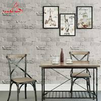 5M PVC Waterproof Vinyl Brick Stone Self adhesive Wallpaper Roll for Living room Vintage Decor Bedroom Home Decor Wall Stickers