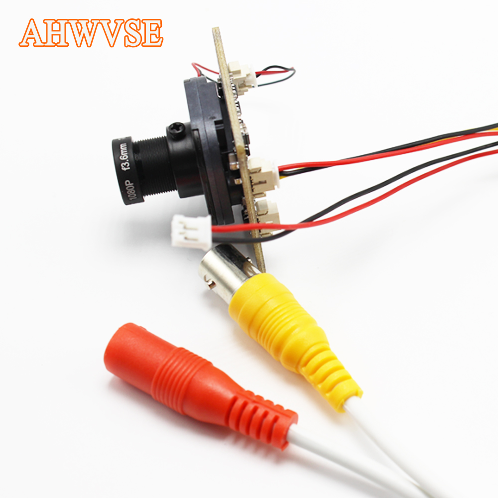 AHWVSE 2.8mm lens HD 720P 960P 1080P CCTV AHD camera module board with IR-CUT and BNC cable hkes 38pcs lot 1mp cctv ahd camera module with bnc port and 16mm lens