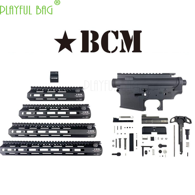 Outdoor CS Toy Water Bullet Gun Refit Nylon TTM Case BCM Engraved Fishbone Case Upgrade Material  BCM Suite Accessories OJ46