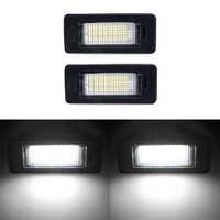 2 pièces sans erreur 18Led plaque d'immatriculation lumières ampoule pour BMW E39 E60 Canbus voiture plaque d'immatriculation lumière pour bmw E90 E91 E92 E93 325xi 328i