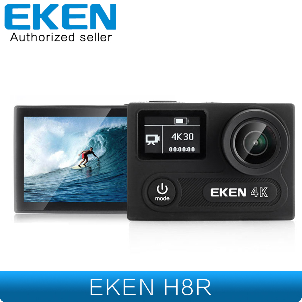 EKEN H8R 4K 30fps Ultra HD Camera Real 4K Action Camera 30 waterproof 2 inches LCD Screen Wi-Fi Remote Gopro Hero 5 Style Camera аксессуар gopro wi fi smart remote armte 002