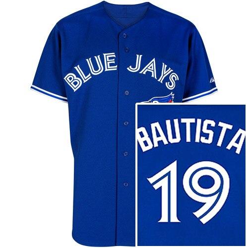 dfa337318 Toronto Blue Jays Authentic 19 Jose Bautista Grey Road Jersey Gray ...