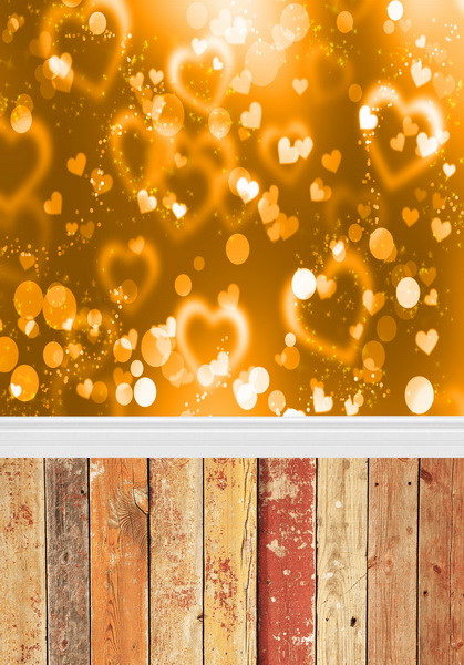 Golden bokeh vinyl photography backdrops 8 ft x 10 ft fabric printing photo studio background F-380
