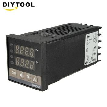 цена на REX-C100 110V to 240V 0 to 400 Degree Digital PID Temperature Controller Kits with K Type Probe Sensor