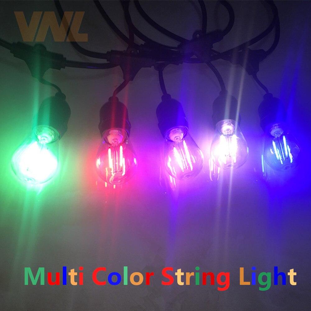 Image 3 - VNL IP65 15M Commercial LED String Lights S14 LED Multicolor Light String Waterproof For Holiday Garland Wedding Lighting-in Lighting Strings from Lights & Lighting