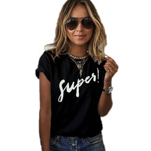 T-shirt Casual Loose Short Sleeve O Neck Female Tops camisetas mujer SI01