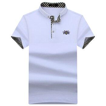 Neue 2019 Sommer Männer Polo Shirts Kurzarm Kühle Baumwolle Slim Fit Casual Business Männer Shirts Luxus Marke Größe S-10XL