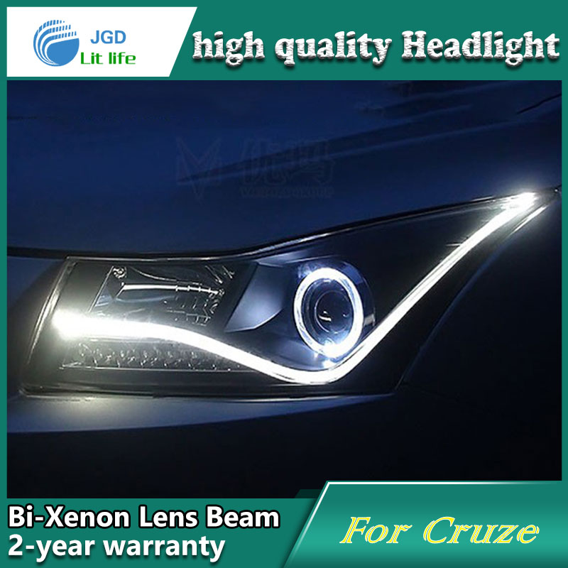Car Styling Head Lamp case for Chevrolet Cruze Headlights LED Headlight DRL Lens Double Beam Bi-Xenon HID Accessories for chevrolet cruze tuning bi xenon projector lens head lights with led turn light 2015 year new arrival