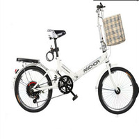 Folding Bicycle 20 inch Single Speed Adult and Child Student's Shock free Light Bicycle for Men and Women
