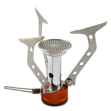 HW2016 NEW arrival Portable Stainless Steel font b Camping b font Stove Outdoor Picnic Cookout Mini